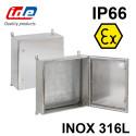 Coffret ATEX Inox 316 avec plaque de montage IDE