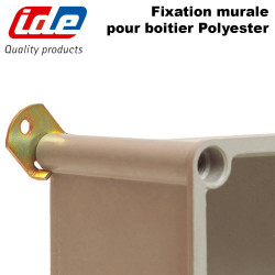 Fixation murale pour boitier polyester ROC IDE