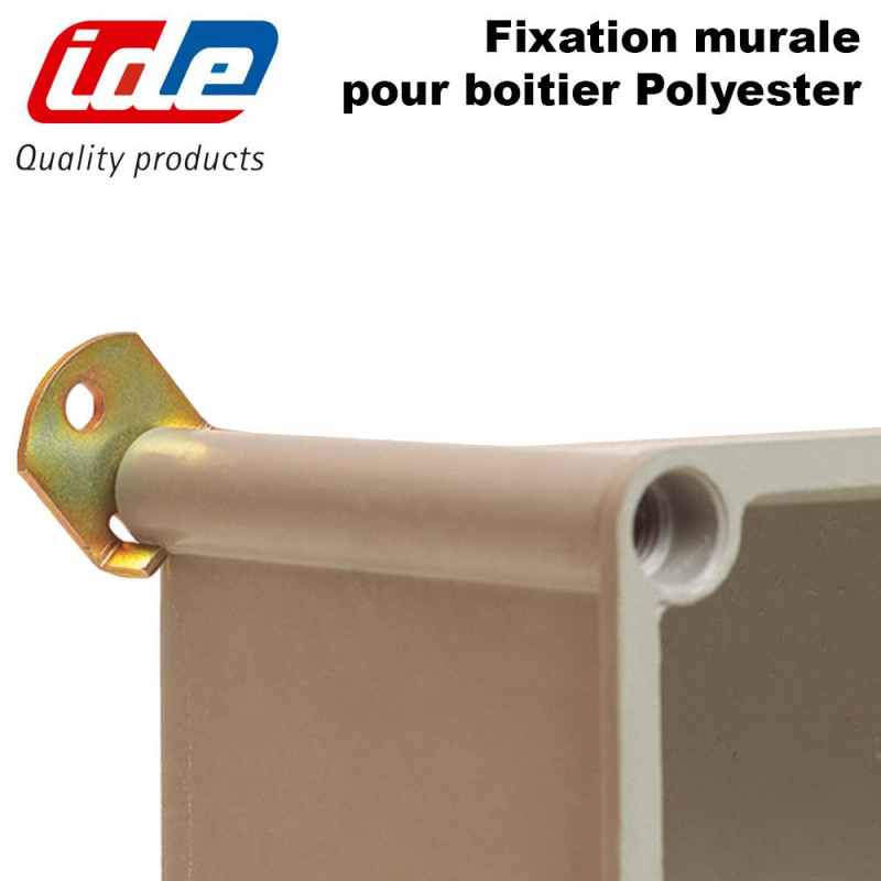 Fixation murale pour boitier polyester ROC IDE