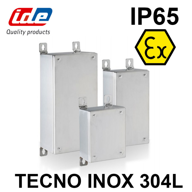 Boîtier TECNO ATEX inox AISI 304L sans plaque de montage IDE