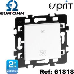 Interrupteur VMC 2 vitesses blanc Esprit Eurohm