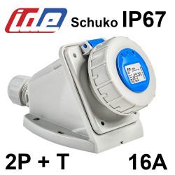 Socle de prise SCHUKO 2P+T 16A - IP67