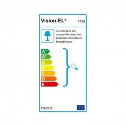 Support de spot fixe basse luminance BBC rond blanc 85 mm