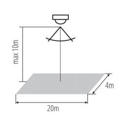 Détecteur de mouvement spécial plafond 10m SENZO 360° IP20 2 cellulles 2000W Kanlux