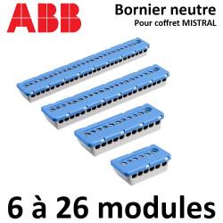 Bornier de neutre pour coffret ABB Mistral