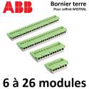 Bornier de terre pour coffret ABB Mistral