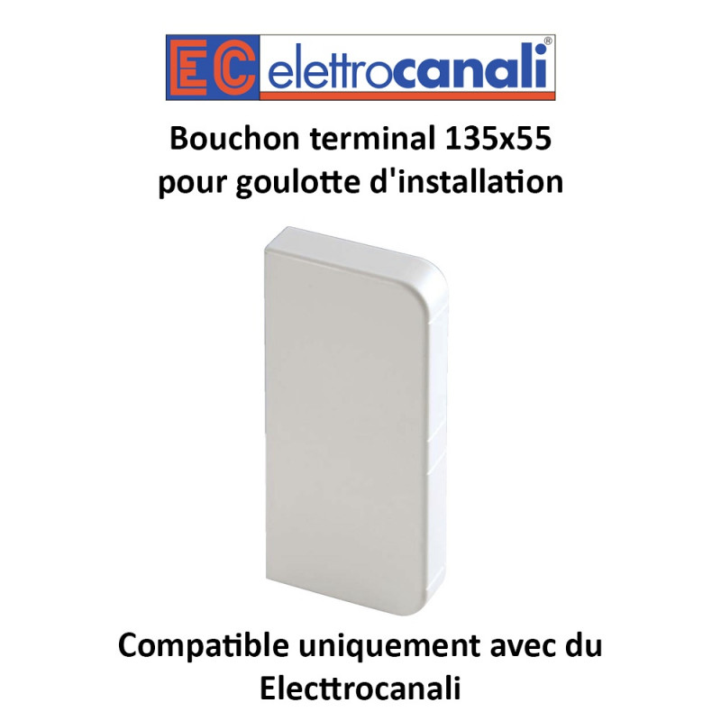 Bouchon terminal 135x55 goulotte d installation