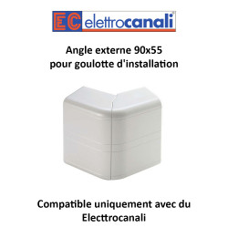 Angle externe Goulotte d'Installation 45X45 Dim.90x55