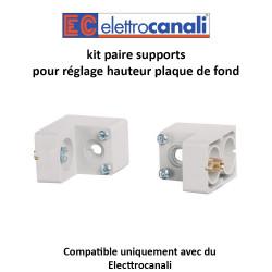 kit paire supports pour réglage hauteur plaque de fond