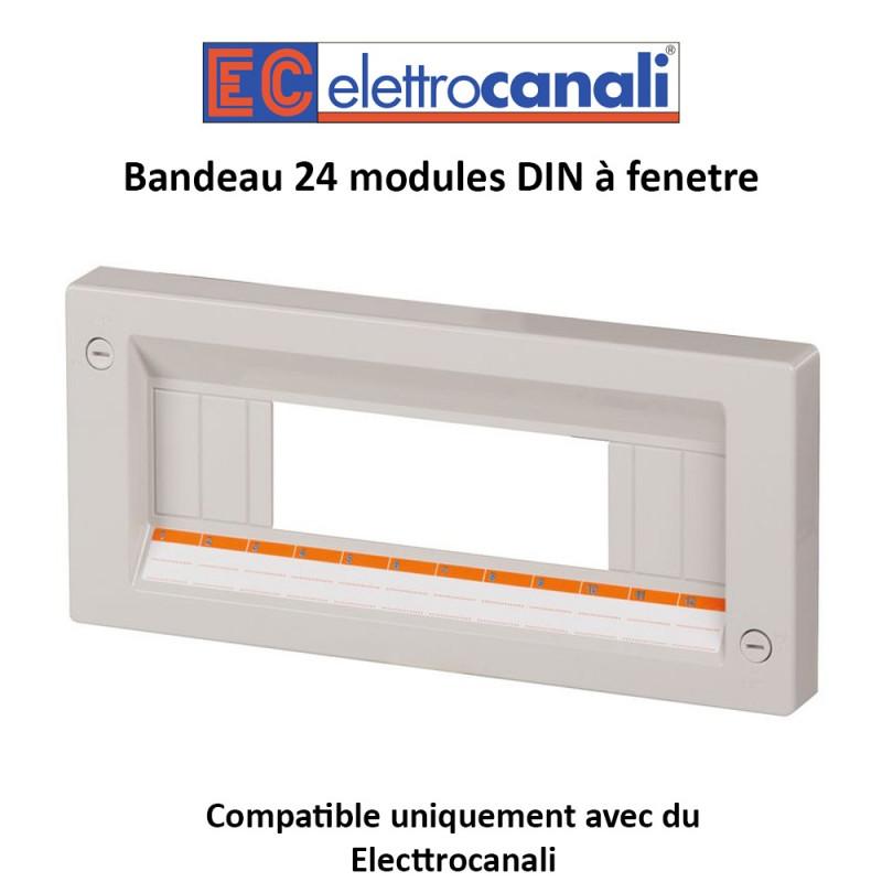 Bandeau 24 modules DIN à fenetre