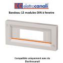 Bandeau 12 modules DIN à fenetre