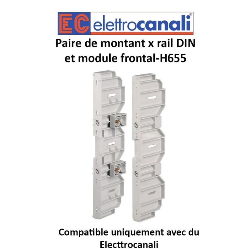 Paire de montant x rail DIN et module frontal-H655