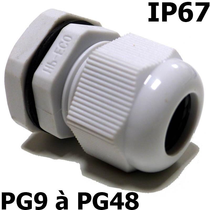 Presse étoupe PG IP67 + contre écrou