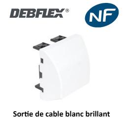 Sortie de câbles IP20 blanc brillant deblex