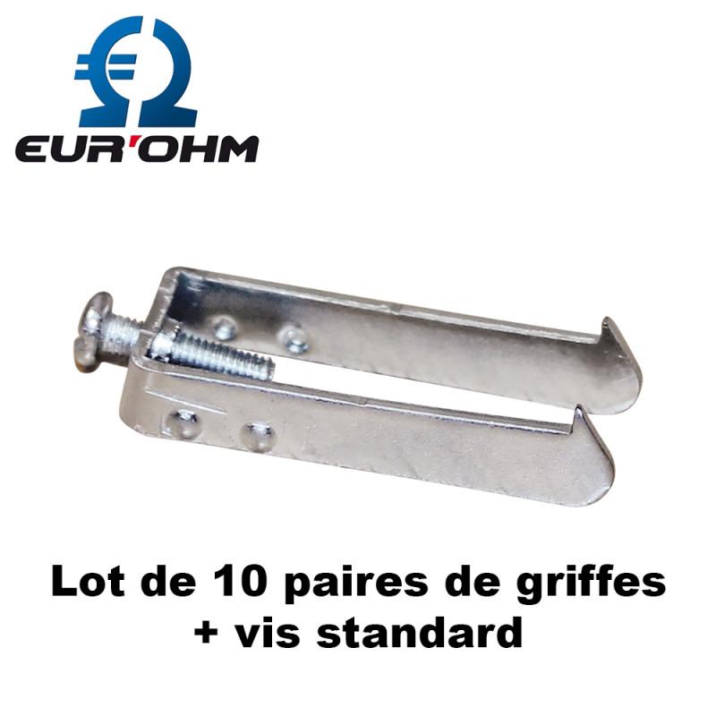 Lot de 10 paires de griffes + vis standard Esprit Eurohm Eur'Ohm
