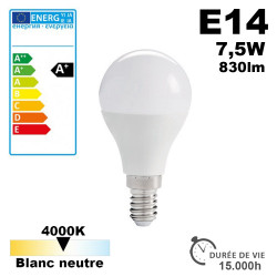 Ampoule LED E14 IQ-LED G45E14 7,5W-NW 4000K