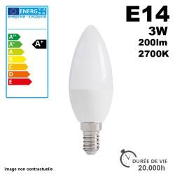 Ampoule LED E14 3W 200lm 2700K 20,000h