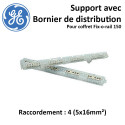 Support avec Bornier de Distribution L1-L2-L3-N pour Fix o rail 150 General Electric
