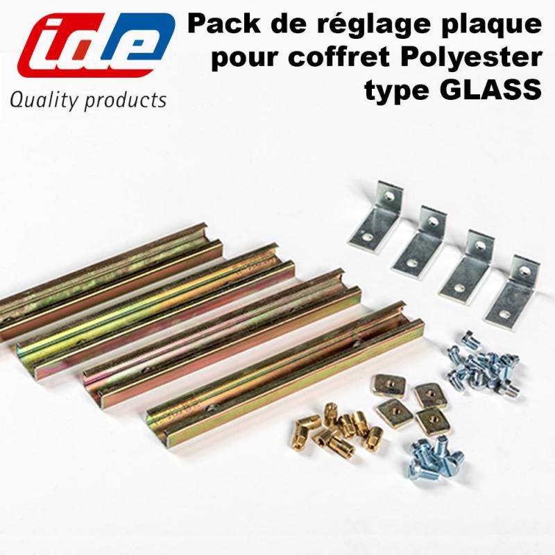 Pack de réglage de plaque pour coffret polyester IP66 IDE IDE