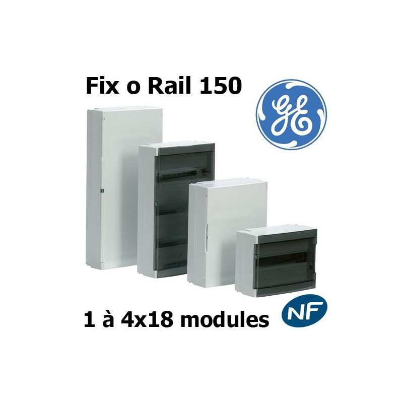 coffret general electric fix o rail 150 lelectricien net. Black Bedroom Furniture Sets. Home Design Ideas