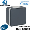 Interrupteur étanche IP55 plexo de type Bouton poussoir SAILLIE OXXO Eurohm Eur'Ohm