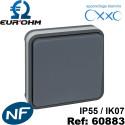 Interrupteur étanche IP55 plexo de type Bouton poussoir étanche IP55 ENCASTRÉ OXXO Eurohm Eur'Ohm