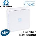 Interrupteur étanche IP55 de type Bouton poussoir lumineux voyant bleu ENCASTRÉ OXXO Eurohm Eur'Ohm