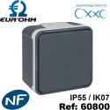Interrupteur étanche IP55 plexo de type Va et vient SAILLIE OXXO Eurohm Eur'Ohm