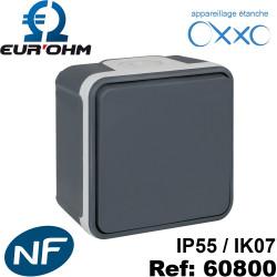Interrupteur étanche IP55 plexo de type Va et vient SAILLIE OXXO Eurohm