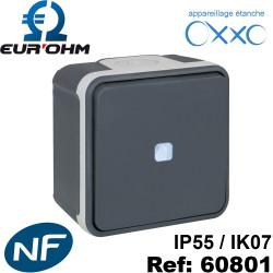 Interrupteur étanche IP55 plexo de type Va et vient lumineux SAILLIE OXXO Eurohm