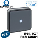 Interrupteur étanche IP55 plexo de type Va et vient lumineux ENCASTRÉ OXXO Eurohm Eur'Ohm