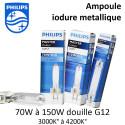 Ampoule à Iodure métallique Philips CDM-T douille G12