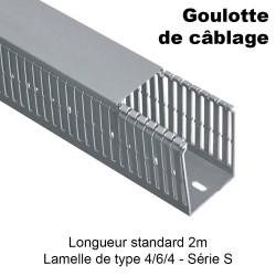 Goulotte de câblage type S à lamelle 4/6/4 pour armoire électrique