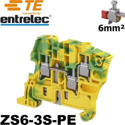 Bloc de jonction Entrelec ZS6-3S à vis - 3 serres fils