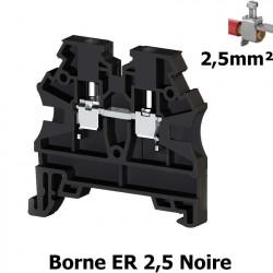 Borne ER 2,5mm² à vis - Bornier à clipser sur rail DIN