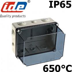Boitier de dérivation industriel étanche IP65 avec couvercle haut IDE