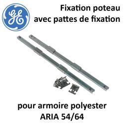 Fixation poteau pour armoire polyester ARIA 54/64