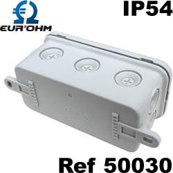 Mini Boite de dérivation étanche IP54 pour luminaire Eur'Ohm
