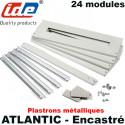 Kit rail DIN + plastrons métalliques pour armoire ENCASTRABLE Atlantic