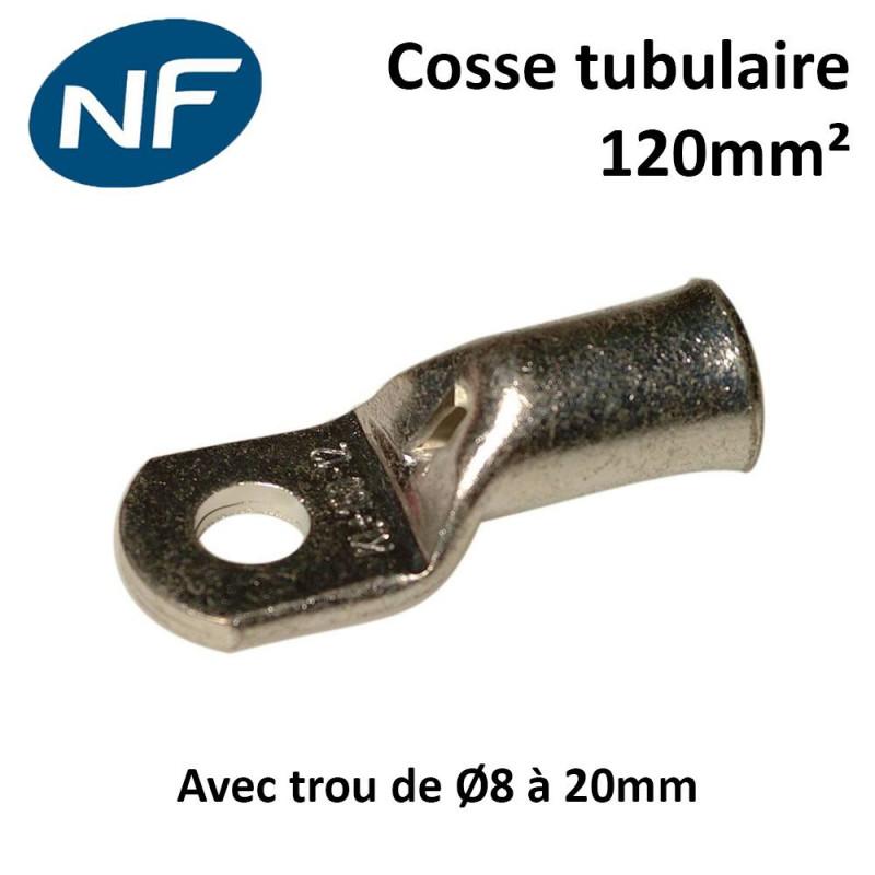 Cosses tubulaires cuivre 120mm² certifié NF
