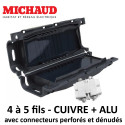 Boite de jonction GEL avec connecteurs perforés et dénudés - Michaud cuivre alu