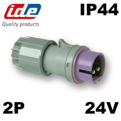 Prise mâle très basse tension 16A IP44 IDE