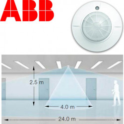 DETECTEUR DE PRESENCE 360° encastré ou saillie longue portée SPECIAL COULOIR ABB