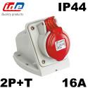 Socle prise murale 2P+T 16A IP44 Code horaire 9 IDE