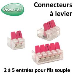 Connecteurs rapide à levier pour fil souple