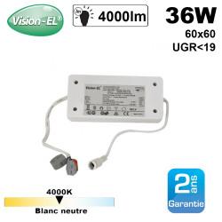 Dalle LED 60x60 4000K 36W dimmable UGR inférieur à 19