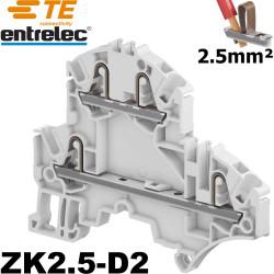 Borne entrelec double étage ZK2,5-D2 - connexion automatique