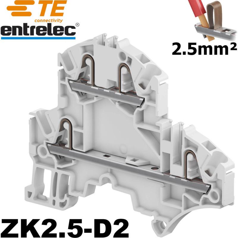 Borne entrelec double étage ZK2,5-D2 - connexion automatique Entrelec