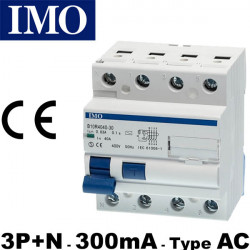 Interrupteur différentiel 3P+N 300mA - IMO