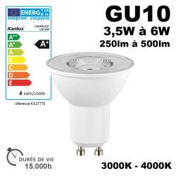 Ampoule LED GU10 TEZI 3-6W equ.25-42W 15,000h Kanlux